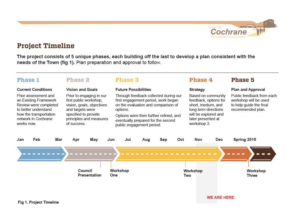 The job was well suited to the Information Designer - my job was to analyze and present information. Here's an example of a project timeline included in the final engagement summary.