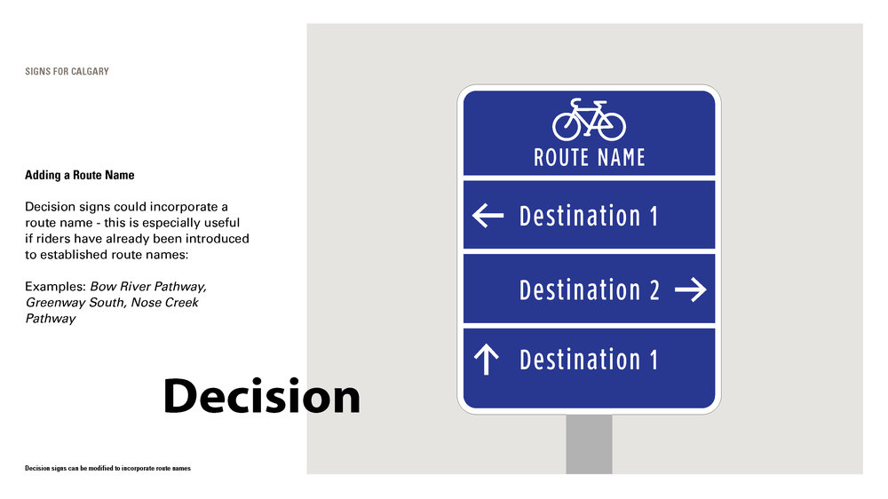 Destination signs