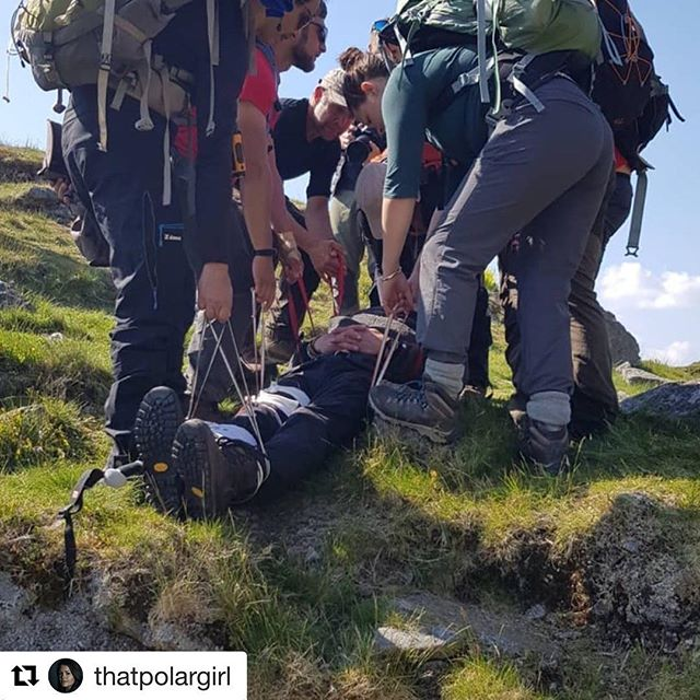 "Well said @thatpolargirl ・・・ Can you actually believe that @peterpenny let us carry him around like that?! This was such an epic day during Core Skills Training with ice warrior. We did a search and rescue scenario where we had rescue the casualty from a ""planecrash"". Gotta love this team! Follow us on our journey to the Northern Pole of Inaccessibility!  #lastpole #searchandrescue #expedition #Dartmoor #training #teamwork #outdoors  Photocredits to @johnalexanderphotography"