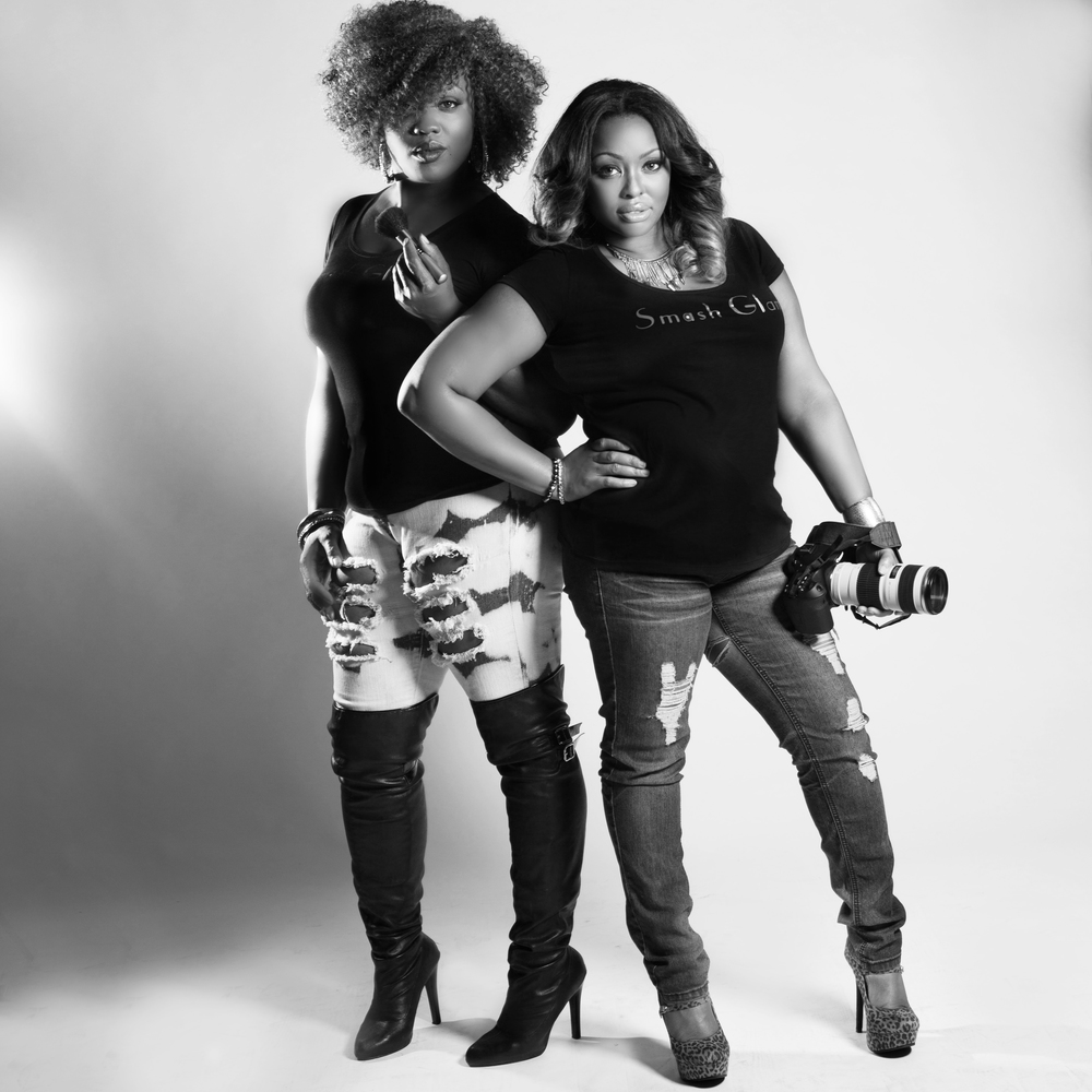 Smash Glam Owners and Founders Aisha Simon (left) Tiffany N. Cody (right)