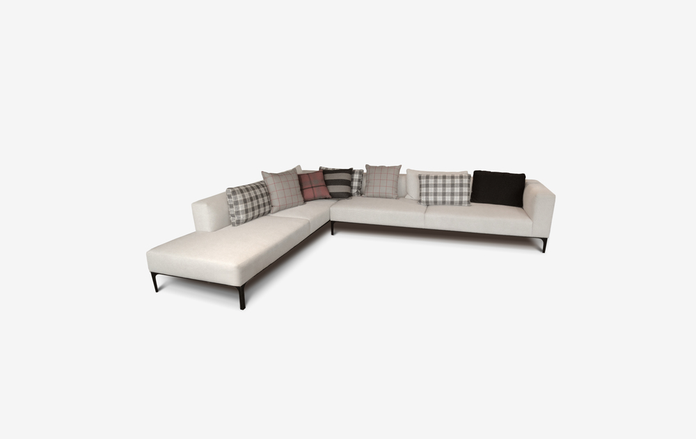 Nova sofa by belle   This contemporary elegant piece comes in many modular configurations.    Nova offers a well-engineered steel base frame that may be powder coated to any colour