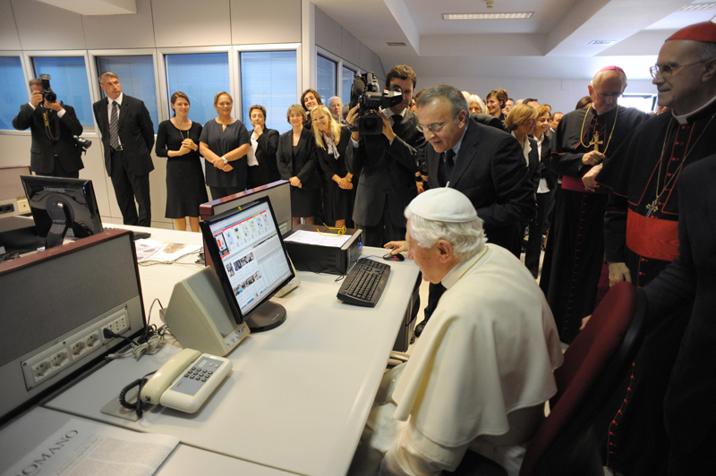 """Yes, I did shut it down and rebooted … you know what, forget it. I'll be in the papal studio ... writing!"""