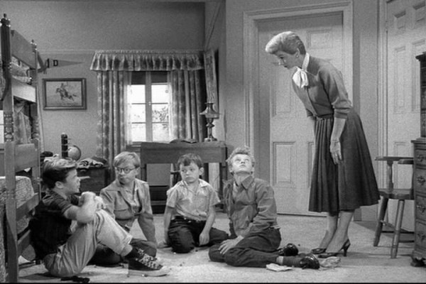 """""""I tired to get them to stop fighting, but they wouldn't listen to me, Mrs. Cleaver."""" """"Stow it, Eddie."""""""