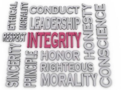 Integrity, Honesty, Honor