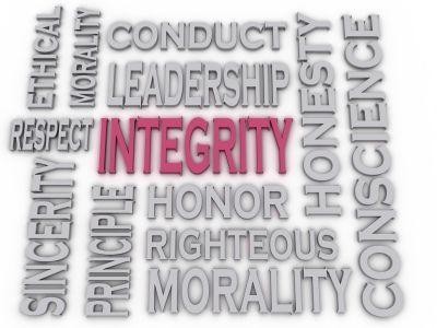 Integrity, Honesty, Honor