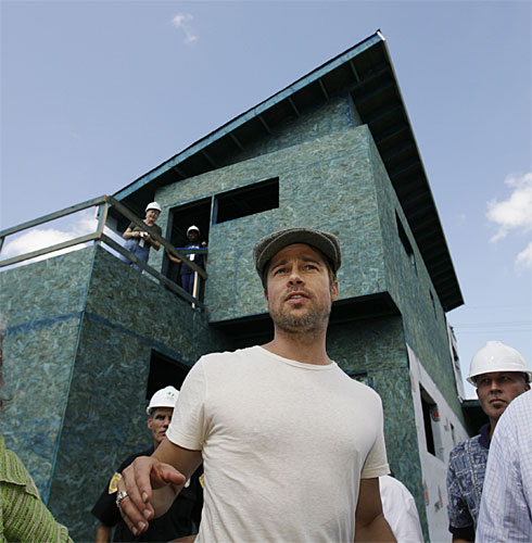 Actor / Director Brad Pitt visiting his development in New Orleans.