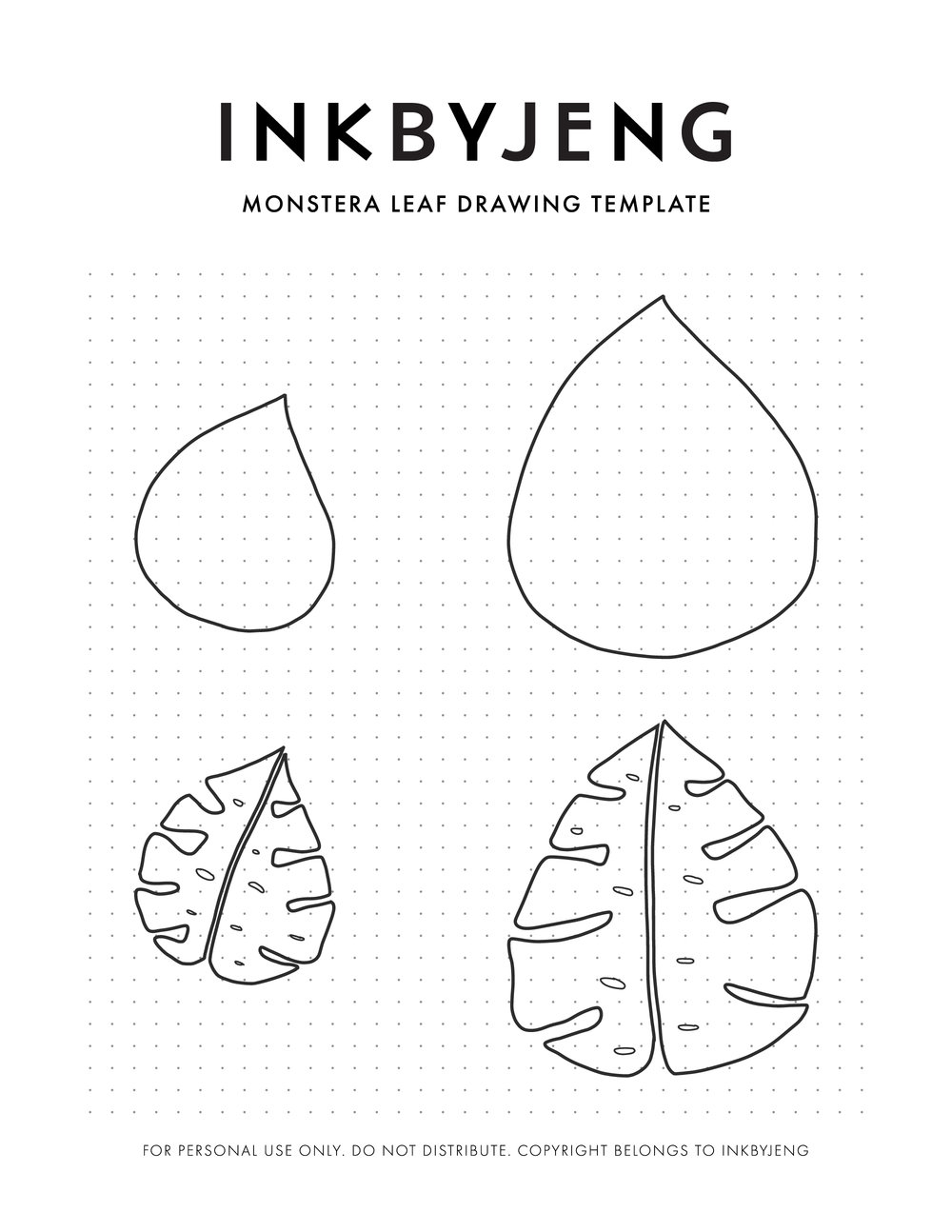 How to draw monstera leaf inkbyjeng for Drawing websites that you can draw on
