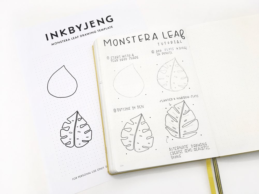 inkbyjeng_drawing_tutorial_monstera_leaf_bullet_journal.jpg