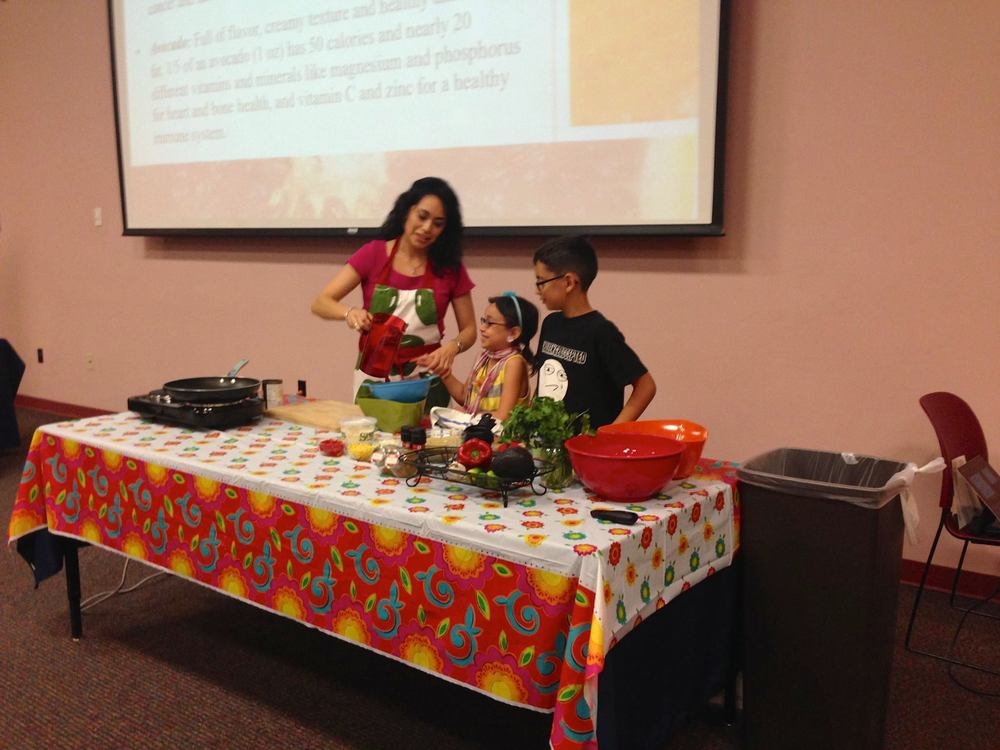 Nutrition talk and demo with my kids at The HAPPY Org event