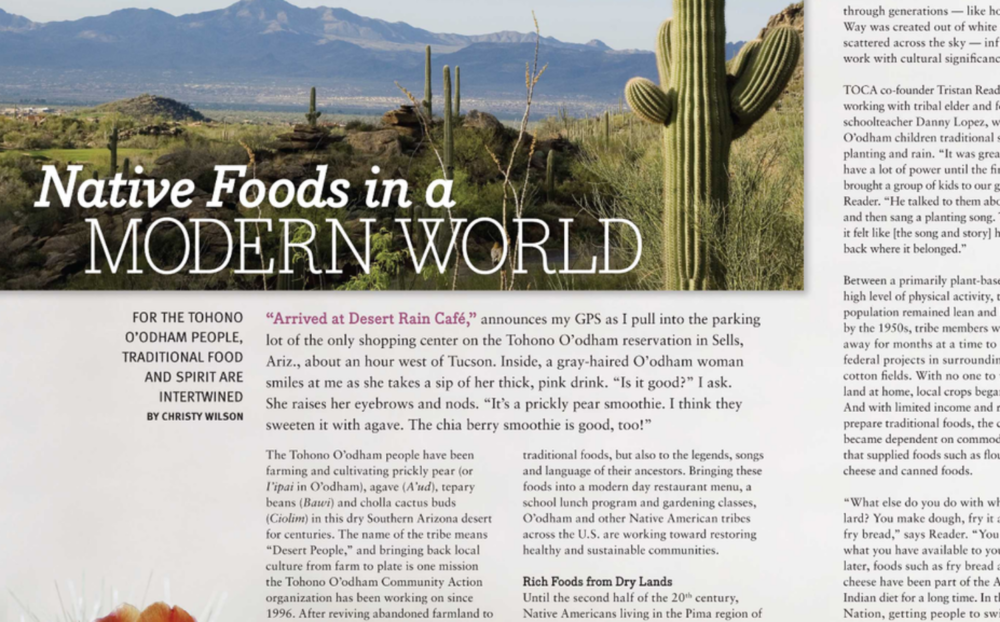 Food & Nutrition Magazine article