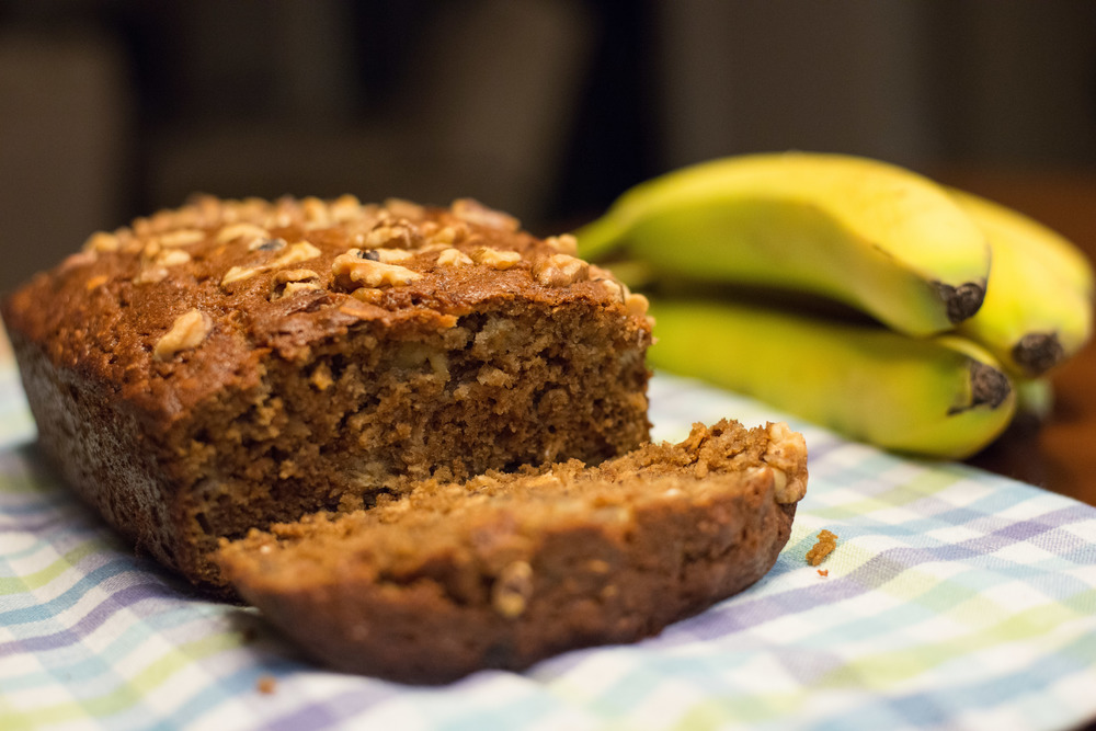 Delicious and nutritious banana bread.