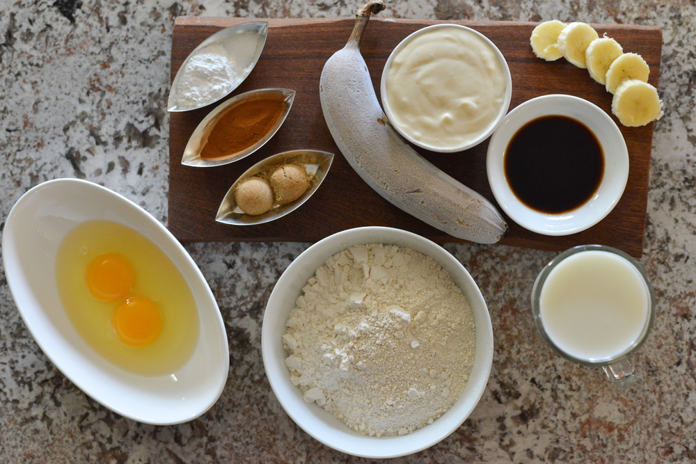Whole food ingredients for delicious and healthy pancakes!