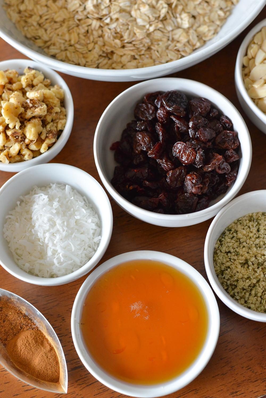 More granola ingredients