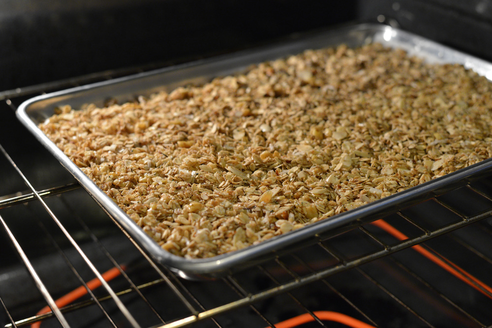 Granola before it's baked.