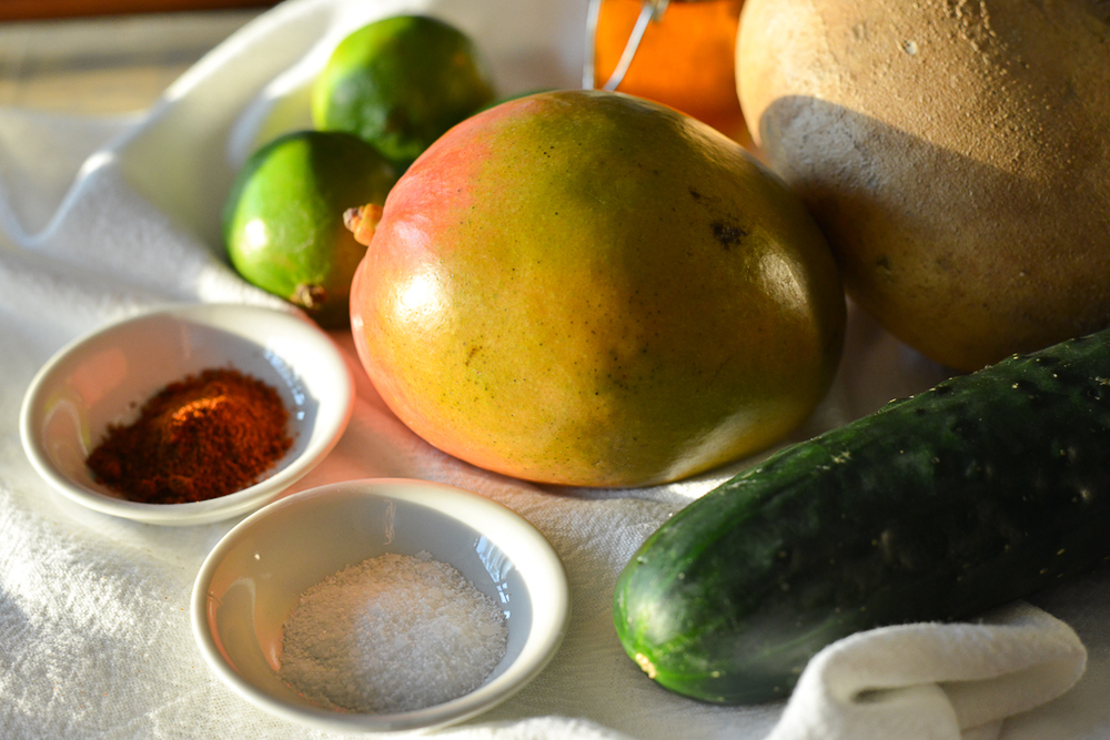 Mango-Ji-Cumba Salad ingredients