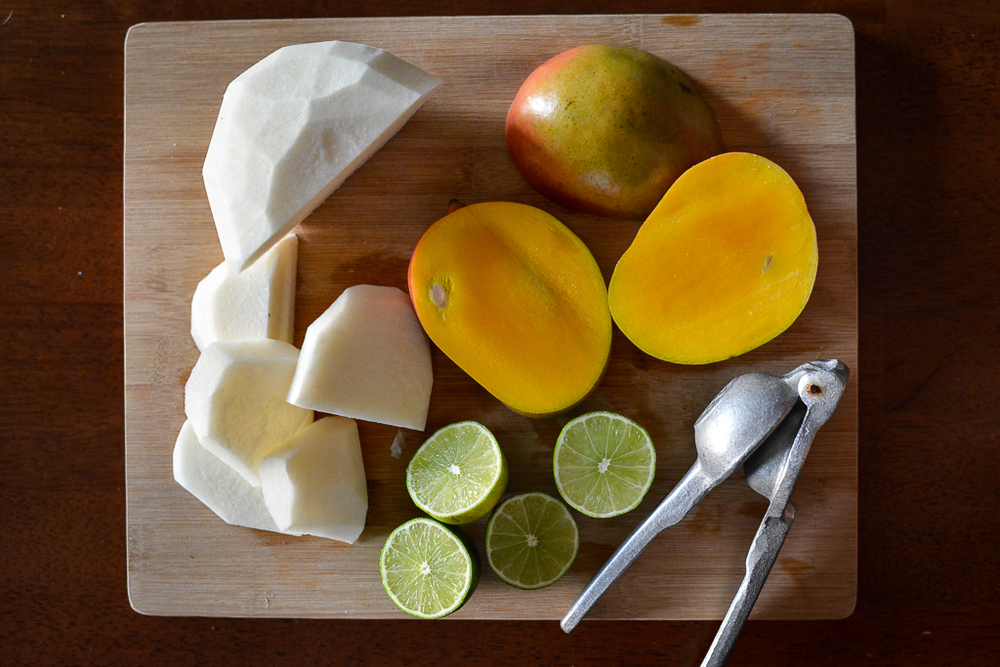 Ingredients on cutting board