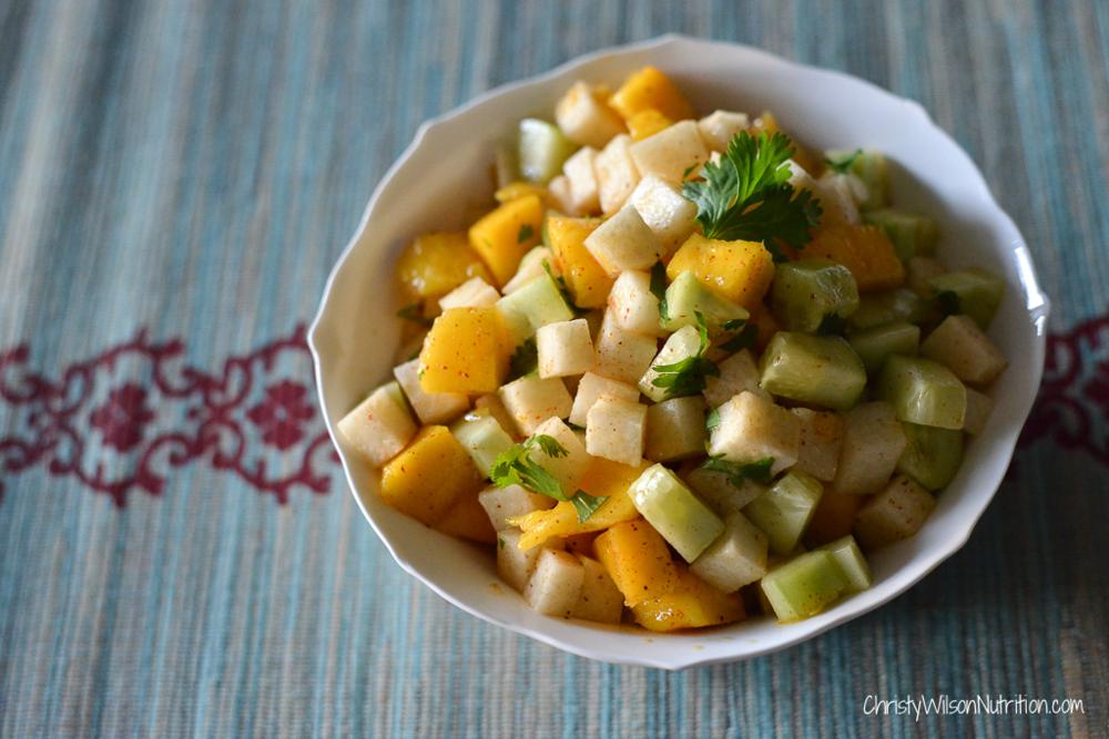 Mango-Ji-Cumba salad plated