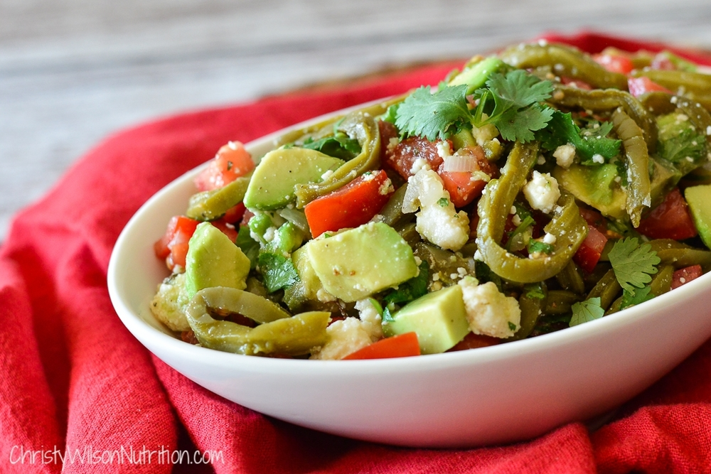 Nopales salad is an easy and nutritious side dish that is bursting with color, flavor and nutrition!