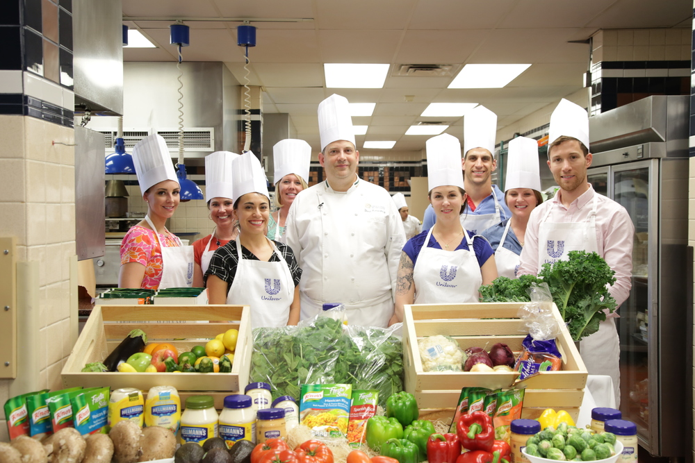 Our awesome Agents of Change RDNs at The Culinary Institute of America: Emily Kyle, Sarah-Jane Bedwell, myself, Alyson Fendrick, Ginger Hultin, Chris Mohr, Kristina LaRue and Christopher Vogliano. (Click on their names to view their websites!)
