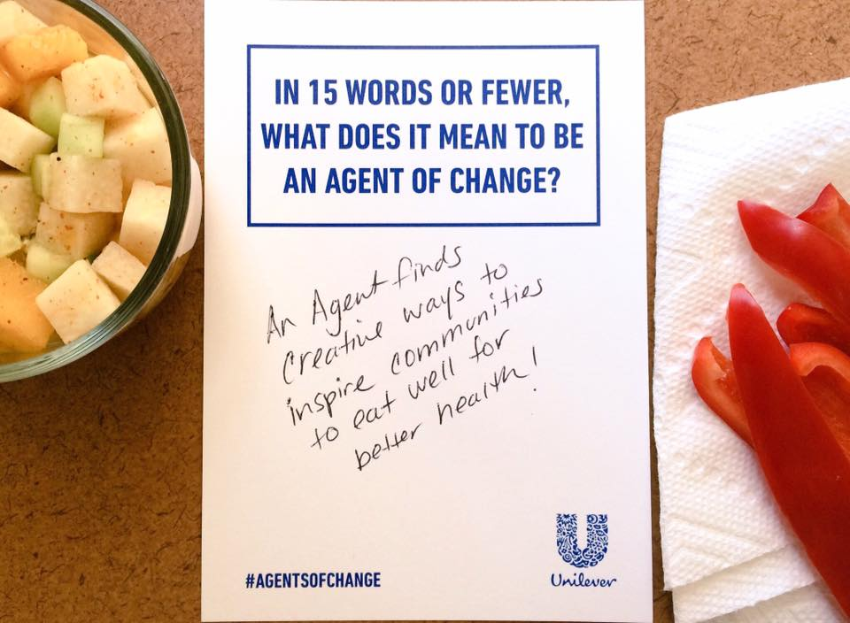 What being an Agent of Change means to me. Inspire!