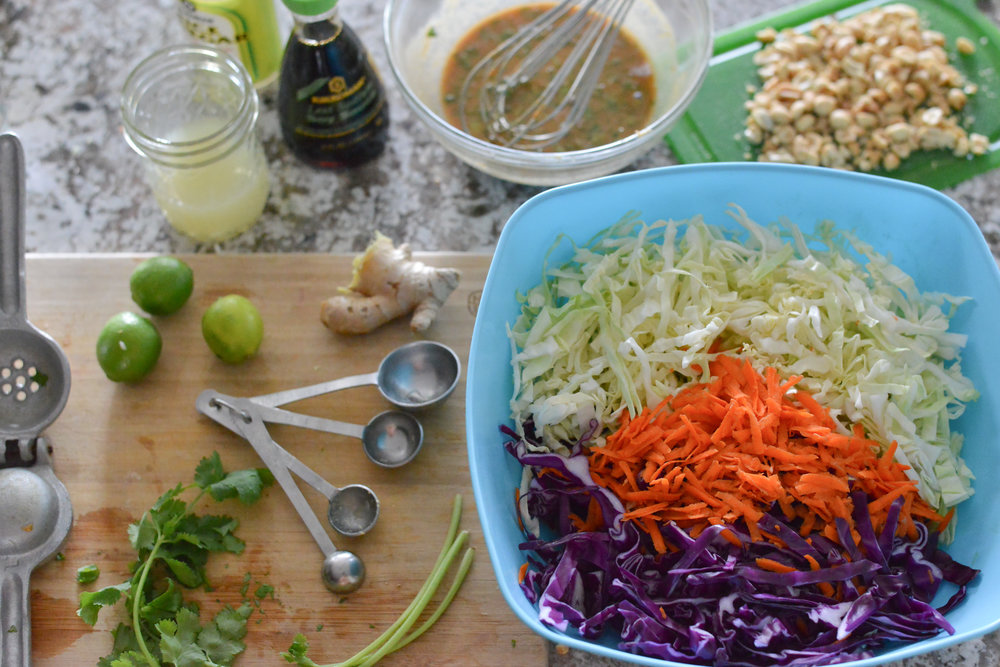Deconstructed Cabbage Slaw