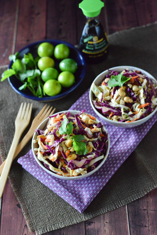 Cabbage slaw with Kikkoman