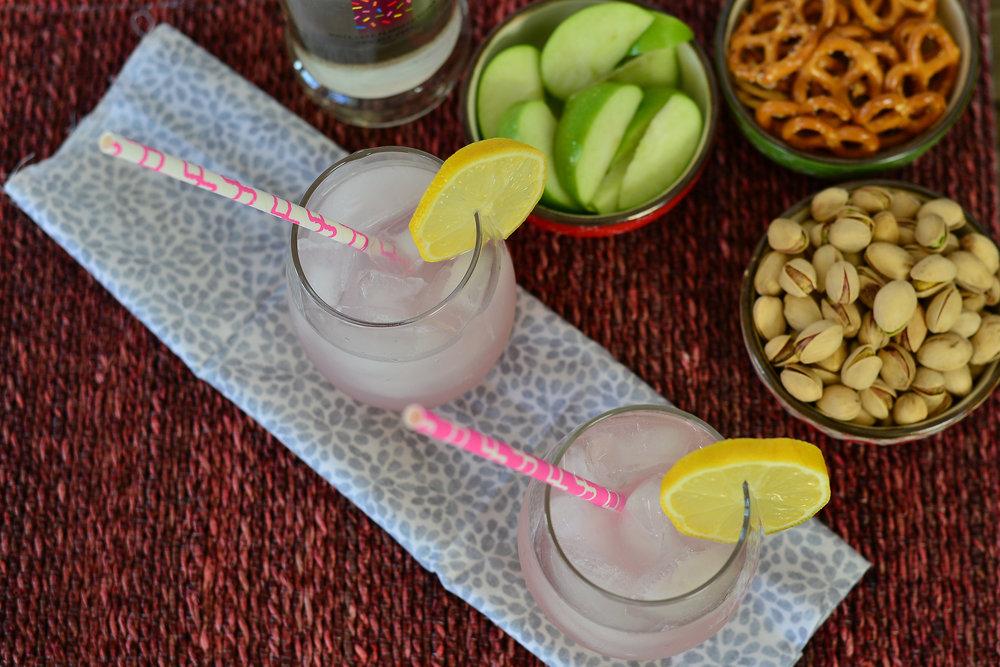 Boozy Pink Lemonade Drink