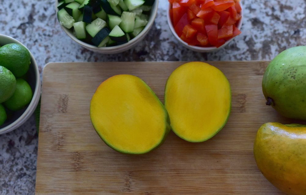 Mango and vegetables