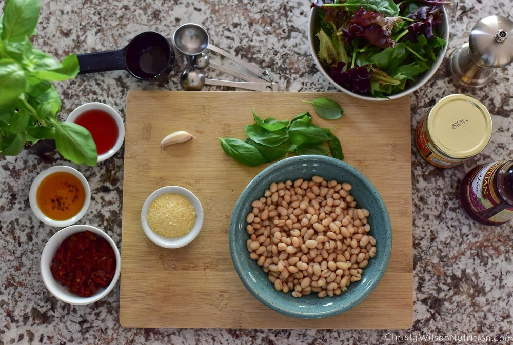 Preparing White Bean Salad