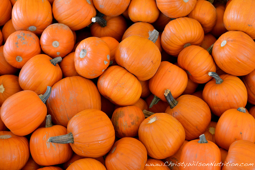 Beautiful collection of fresh pumpkins