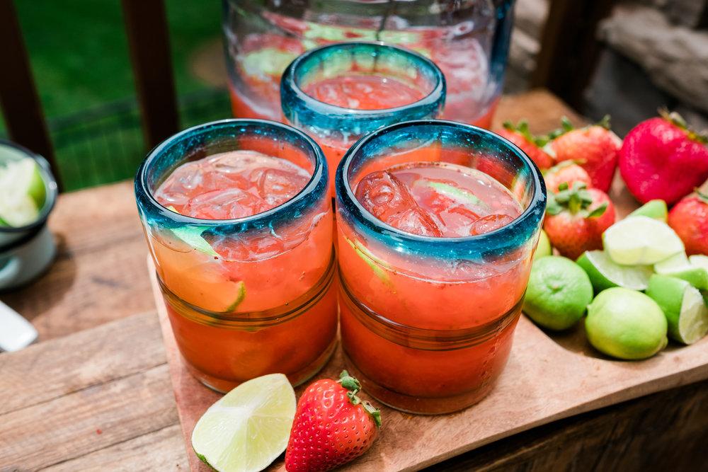 Glasses with Strawberry LImonada