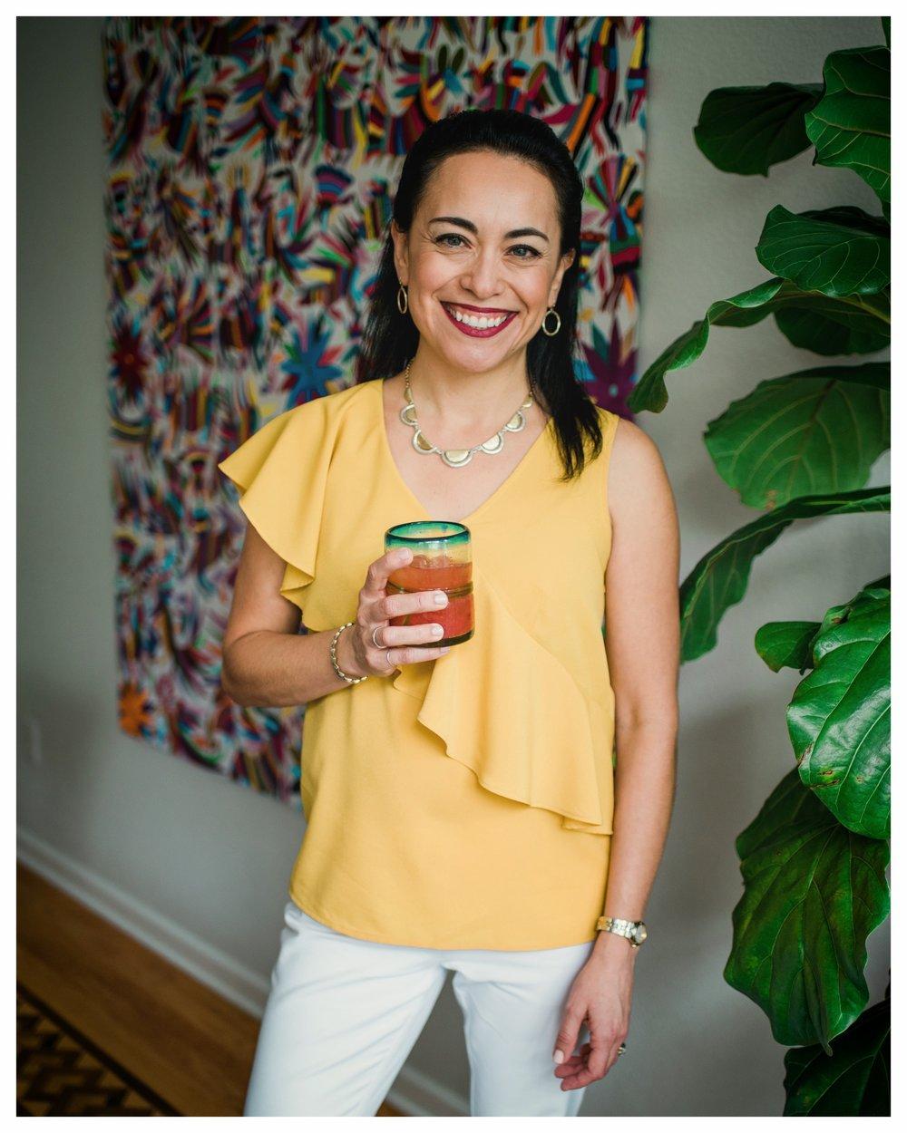 Christy with strawberry limonada