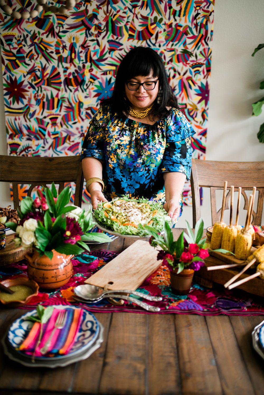 Vianney prepared her beautiful   Mexican Summer Salad with Cilantro Vinaigrette .