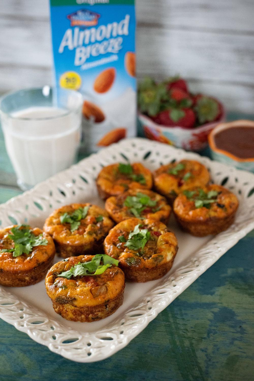 Chorizo veg mini frittatas