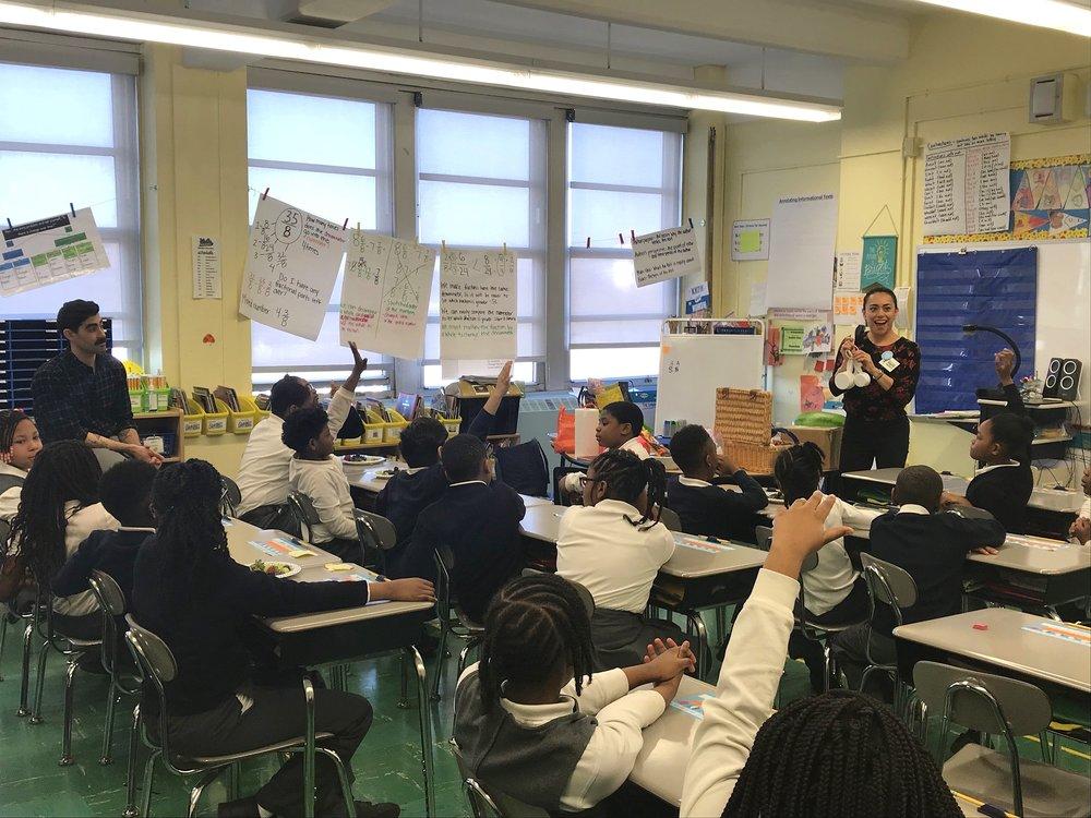 Teaching Fiesta Flavors at Leadership Prep Canarsie in Brooklyn, NY.