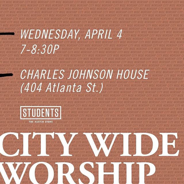 Excited to lead worship tonight for @students_ascc at City Wide Worship!
