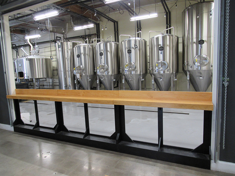 DAYTIME: TEMPORARY BAR SETUP LOOKING INTO BREWERY