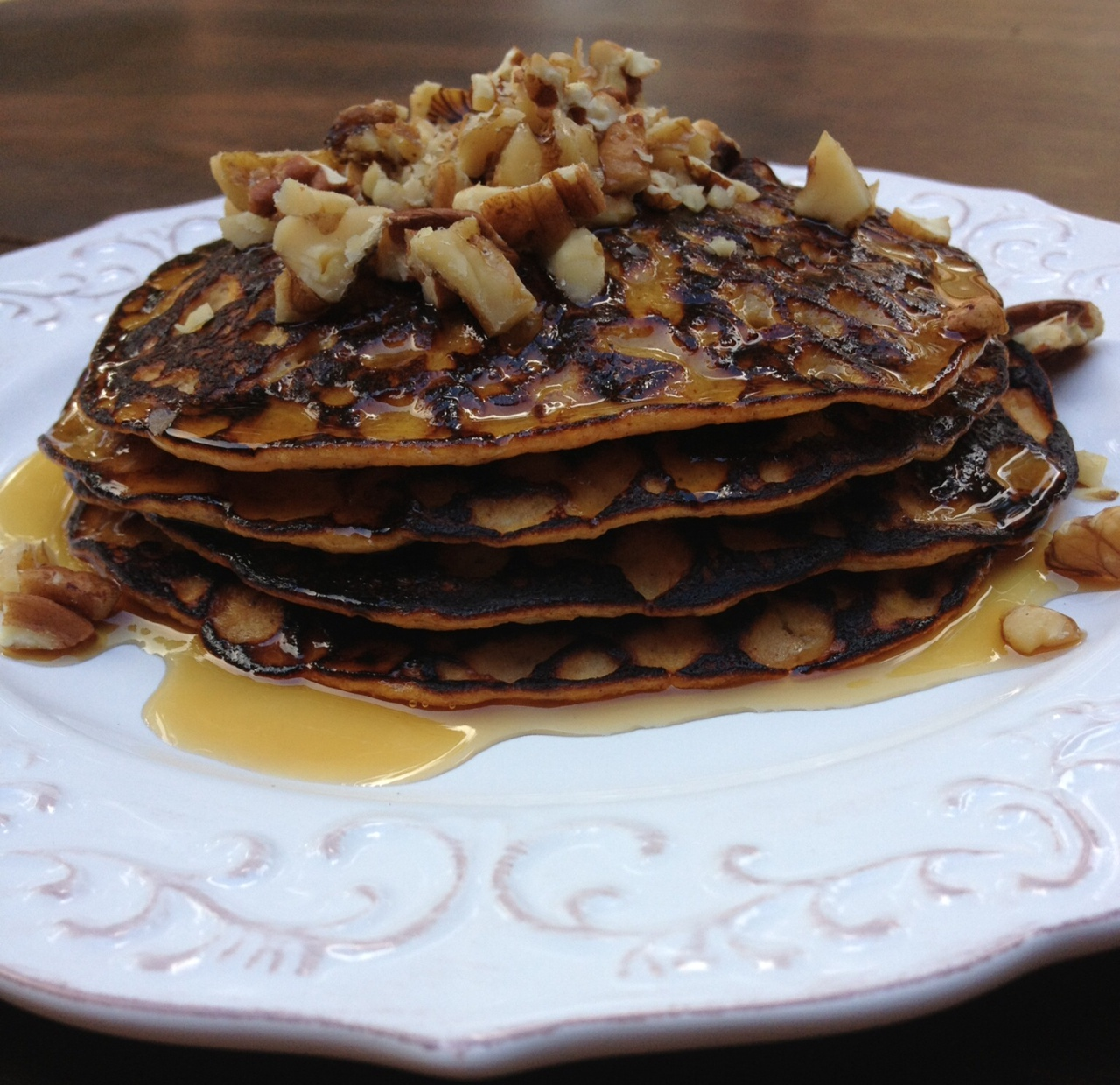 Banana Pumpkin Pie Pancakes
