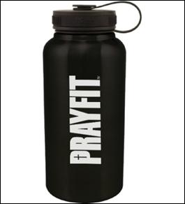 Prayfit Stainless Steel Water Bottle