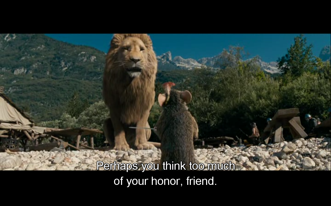 Aslan and Reepicheep
