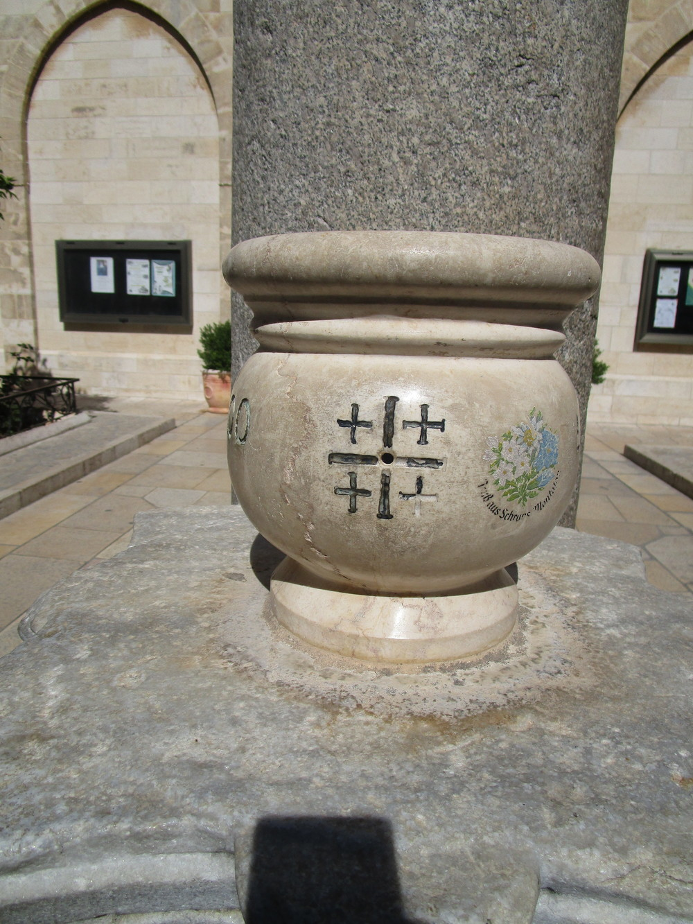 You'll notice this emblem often in these images. I've grown to love it. It's called The Jerusalem Cross. I will write about it in upcoming entries.