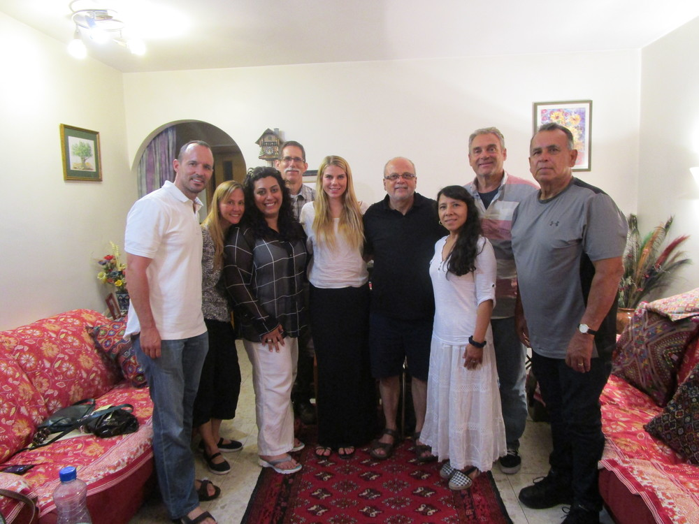 Team Israel, pictured here with Musalaha founder, Salim.