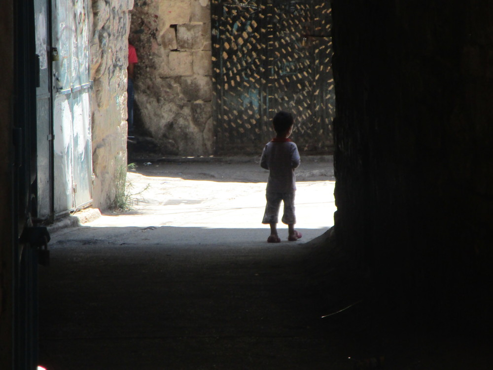 I took this while walking the streets of a 3,500 year-old city, called Nablus. This is located in Palestinian occupied territory where we served the kids. Unbelievable poverty.