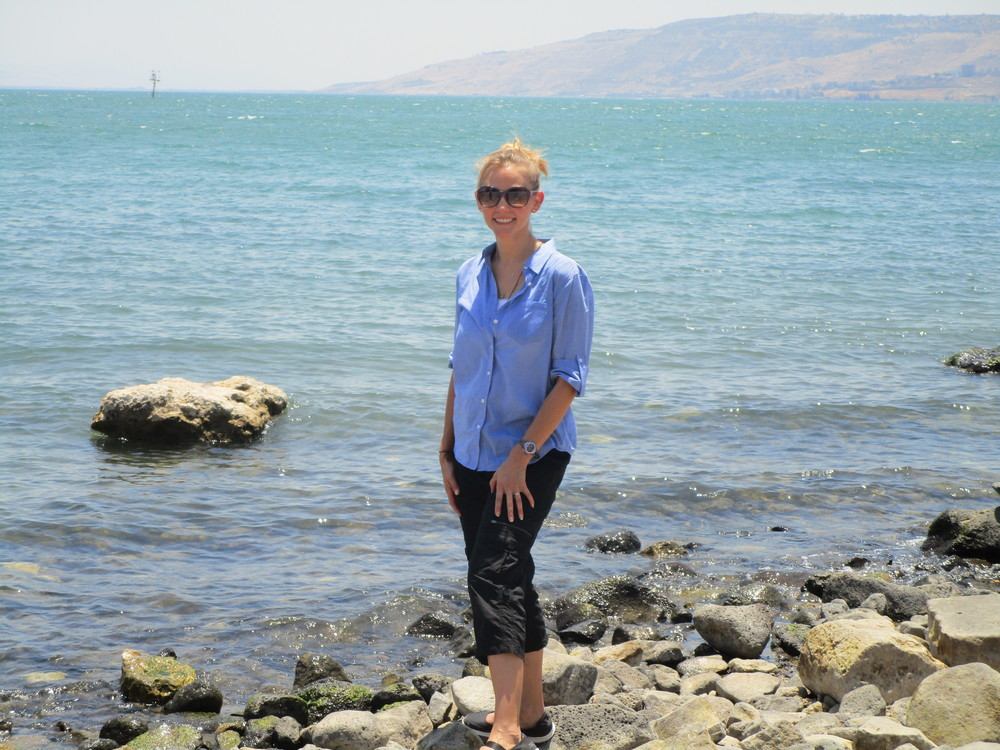 The moment Letta's feet touched the water in the Sea of Galilee.