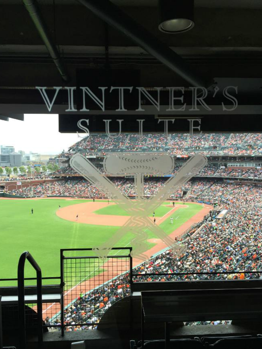 Wine Club tasting at The San Francisco Giants Vintner's Suite