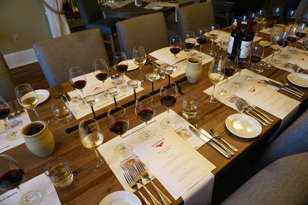 Influencer & blogger event at Arrowood Winery, Sonoma