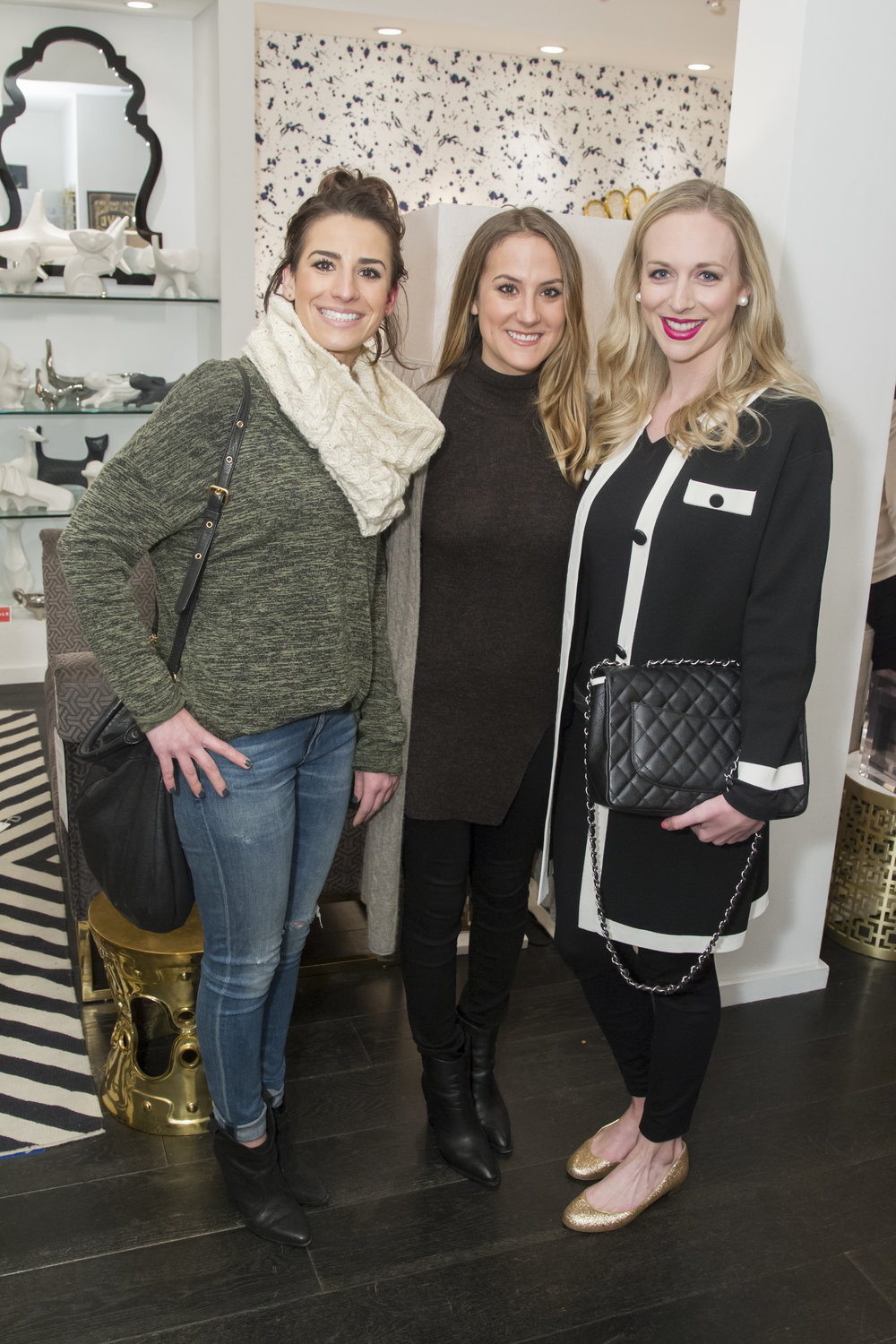 Guests at The JetSetting Fashionista's Sip & Shop Event at Jonathan Adler San Francisco
