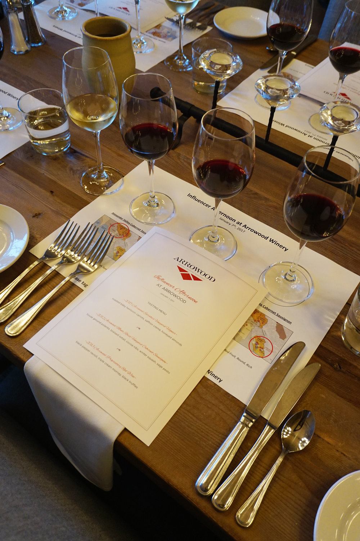 Arrowood Winery Table setting