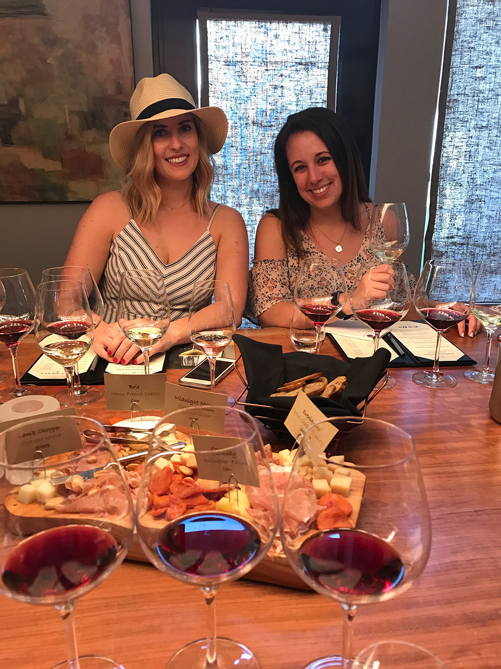 Guests Megan and Makenzie enjoying the delicious wine!
