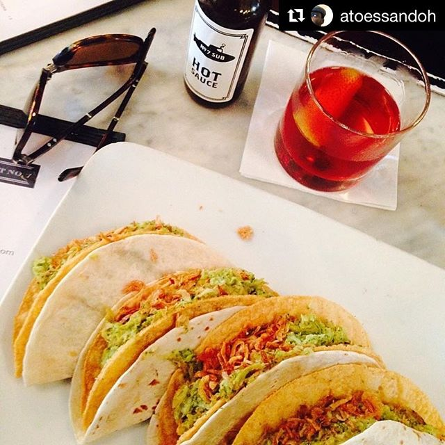 Broccoli will always be here for you. Or there. Whichever. #Repost from @atoessandoh because he knows. ・・・ I don't usually take pics of food but the #broccolitacos at #No7 are ree-dick!